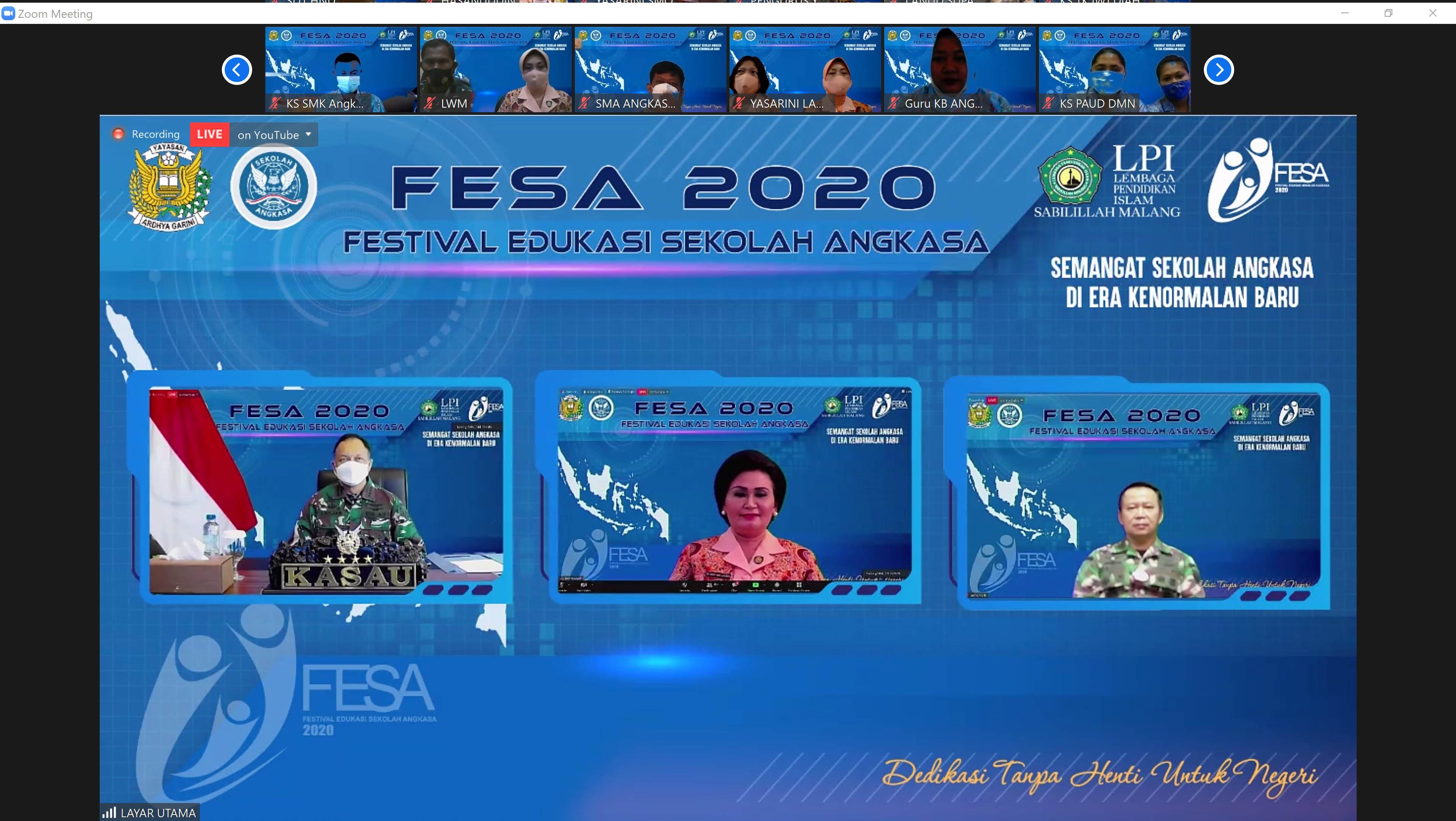Pembukaan Festival Sekolah Angkasa IV 2020