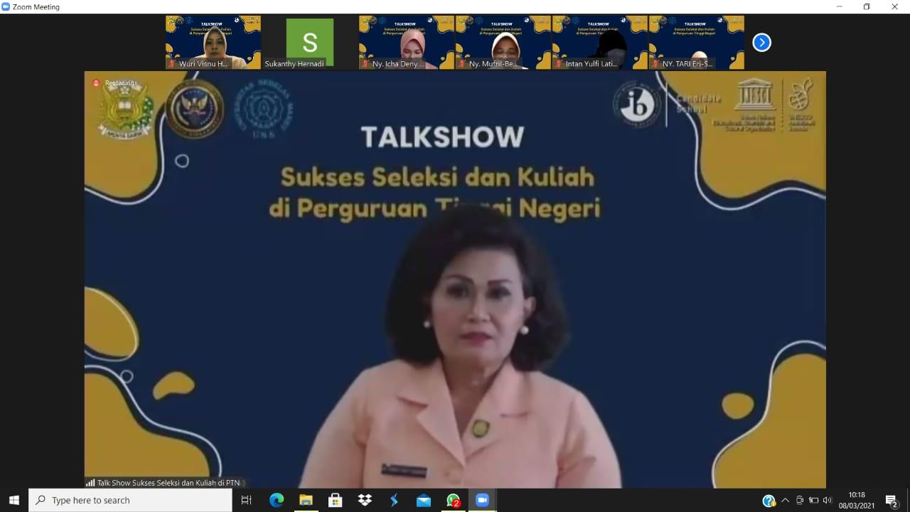 Talkshow SMA Pradita Dirgantara, Sukses Seleksi dan Kuliah di Perguruan Tinggi Negeri