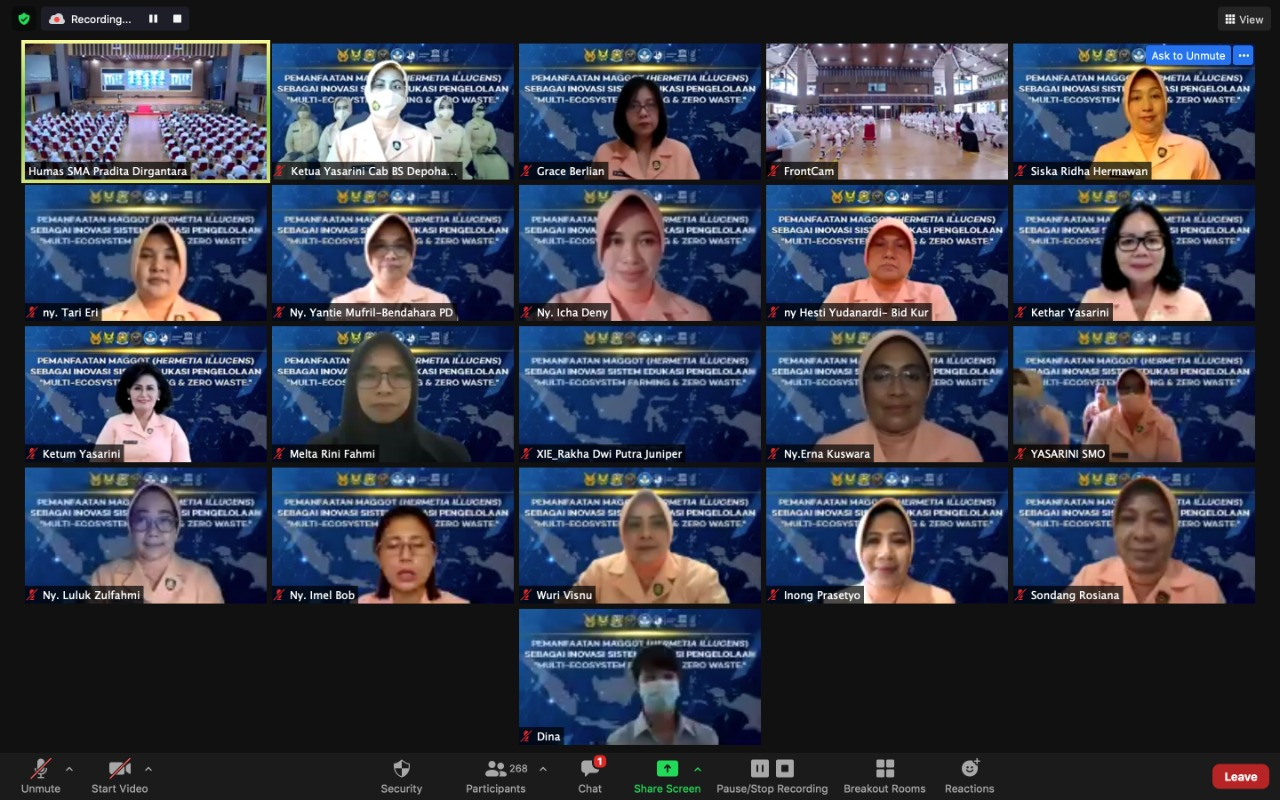 "Webinar SMA Pradita Dirgantara ""Pemanfaatan Maggot (Hermatia Illucens) Sebagai Inovasi Sistem Pengelolaan ""Multy Ekosystem Farming & Zero Wast"