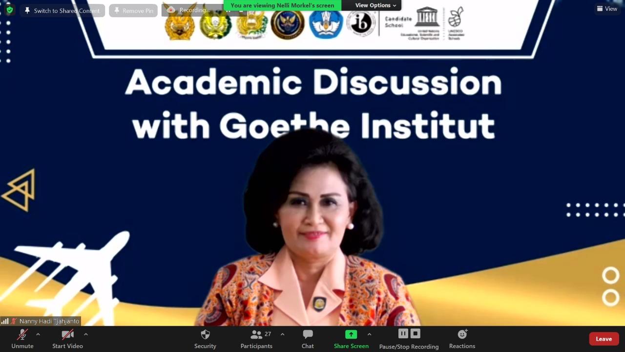 Diskusi Akademik SMA Pradita Dirgantara dengan Goethe Institut