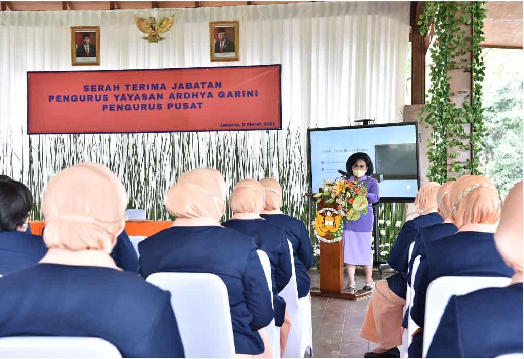 Serah Terima Jabatan Pengurus Pusat Yayasan Ardhya Garini